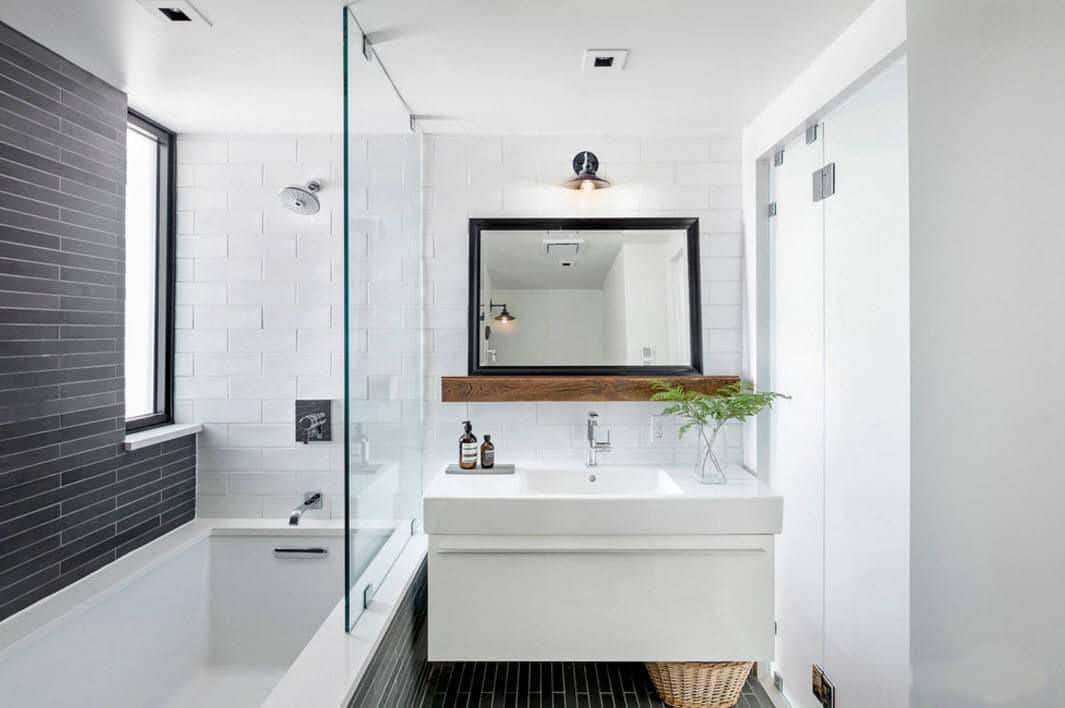 Shower ideas for small bathrooms joy studio design for Small modern bathroom ideas