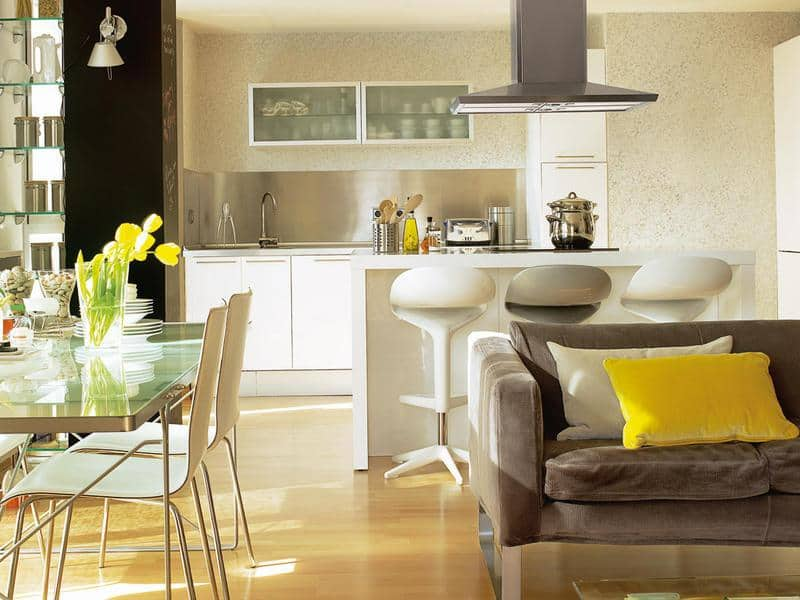 Kitchen design ideas 2017 for Cocina y salon integrados pequenos