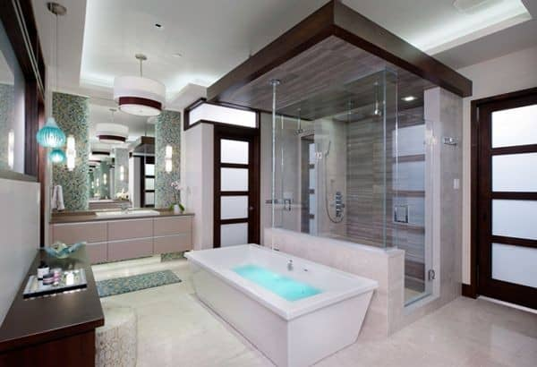 According to bathroom design ideas 2017 lighting is also changing and