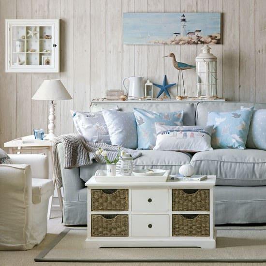 Living Room Decorating Ideas Nautical Décor Contemporary