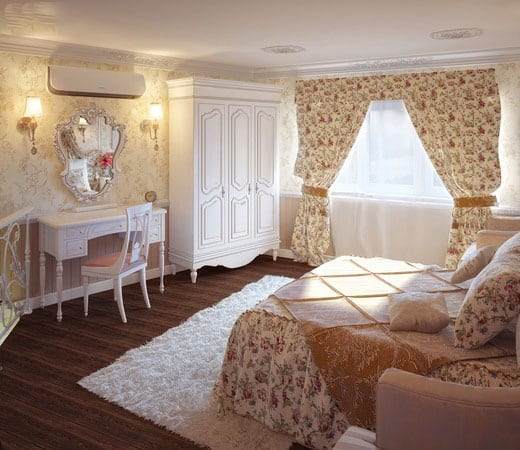 Shabby chic bedroom house interior Shabby chic bedroom accessories