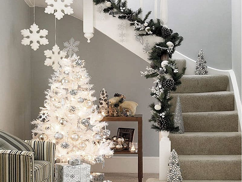 Christmas Decorations With 2017 On : Christmas decoration ideas house interior