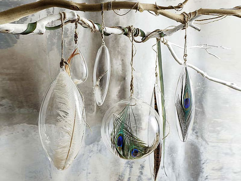 Christmas-decoration-ideas-2017- Christmas-ornaments- xmas-decorations-Christmas-decoration-made-from-birds-and-feathers-2