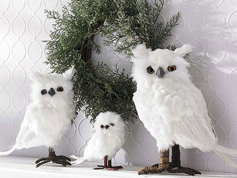 Christmas-decoration-ideas-2017- Christmas-ornaments- xmas-decorations-Christmas-decoration-made-from-birds-and-feathers-3