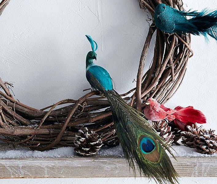Christmas-decoration-ideas-2017- Christmas-ornaments- xmas-decorations-Christmas-decoration-made-from-birds-and-feathers