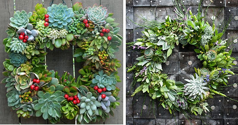 Christmas-decoration-ideas-2017- Christmas-ornaments- xmas-decorations-Christmas-decoration-made- succulents