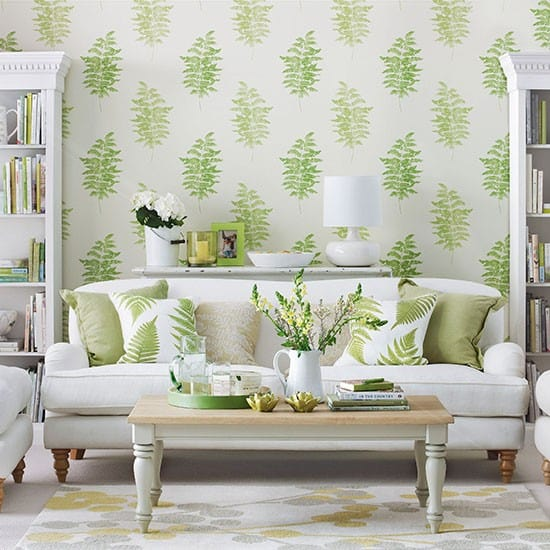 Wallpaper for living room house interior for Sitting room wallpaper