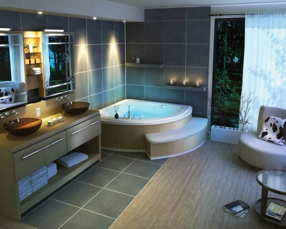 Bathroom decorating ideas high tech bathroom house interior for Bathroom interior decorating ideas