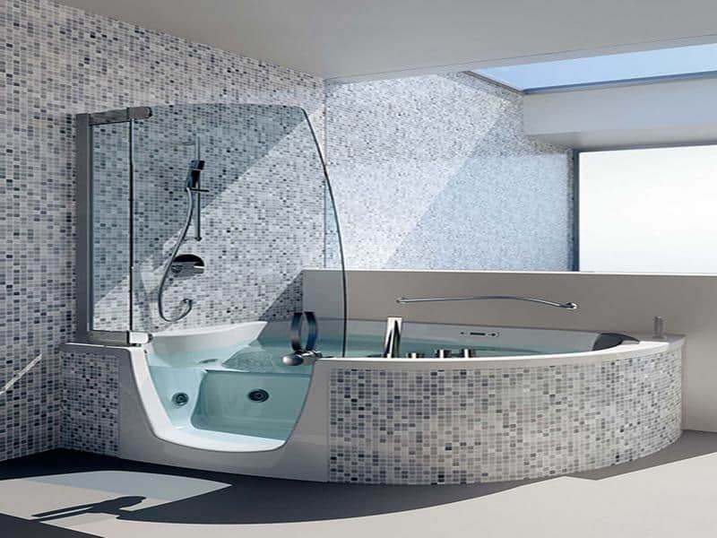 Bathroom decorating ideas high tech bathroom Bathroom designs with separate tub and shower