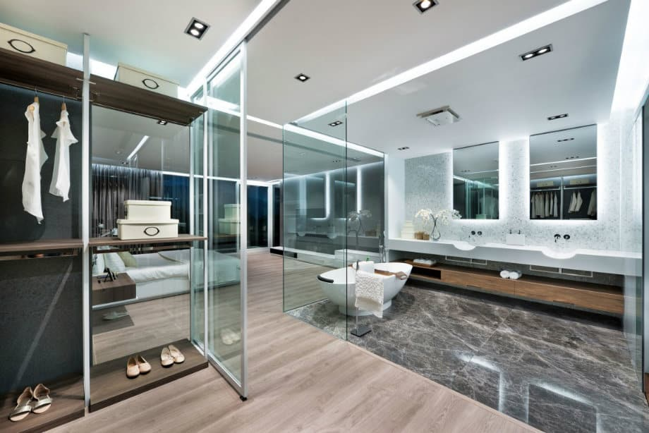 Bathroom decorating ideas: high tech bathroom