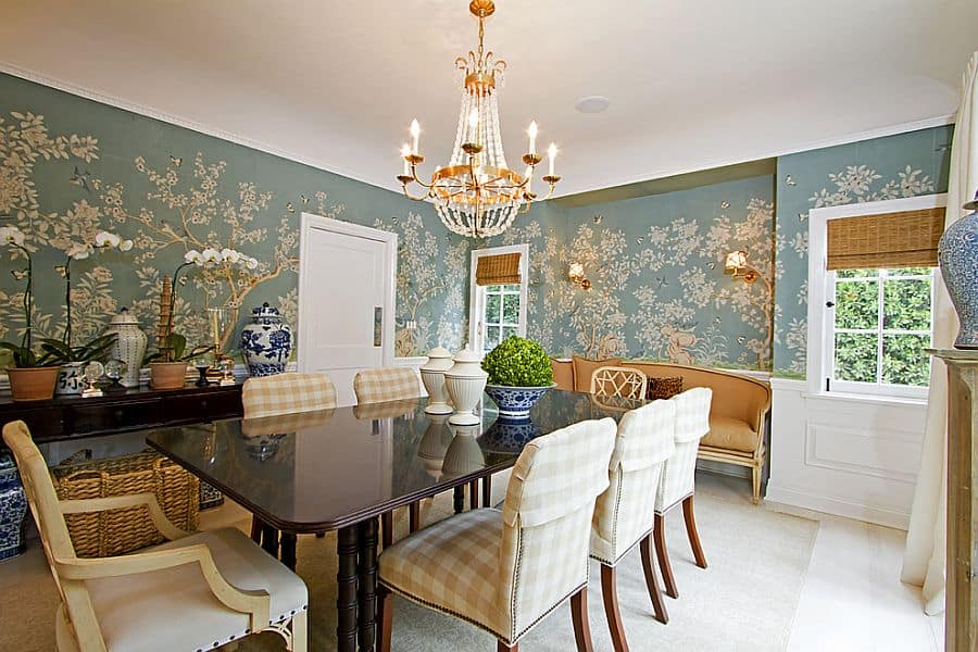 Dining room wall decor for Large dining room wall