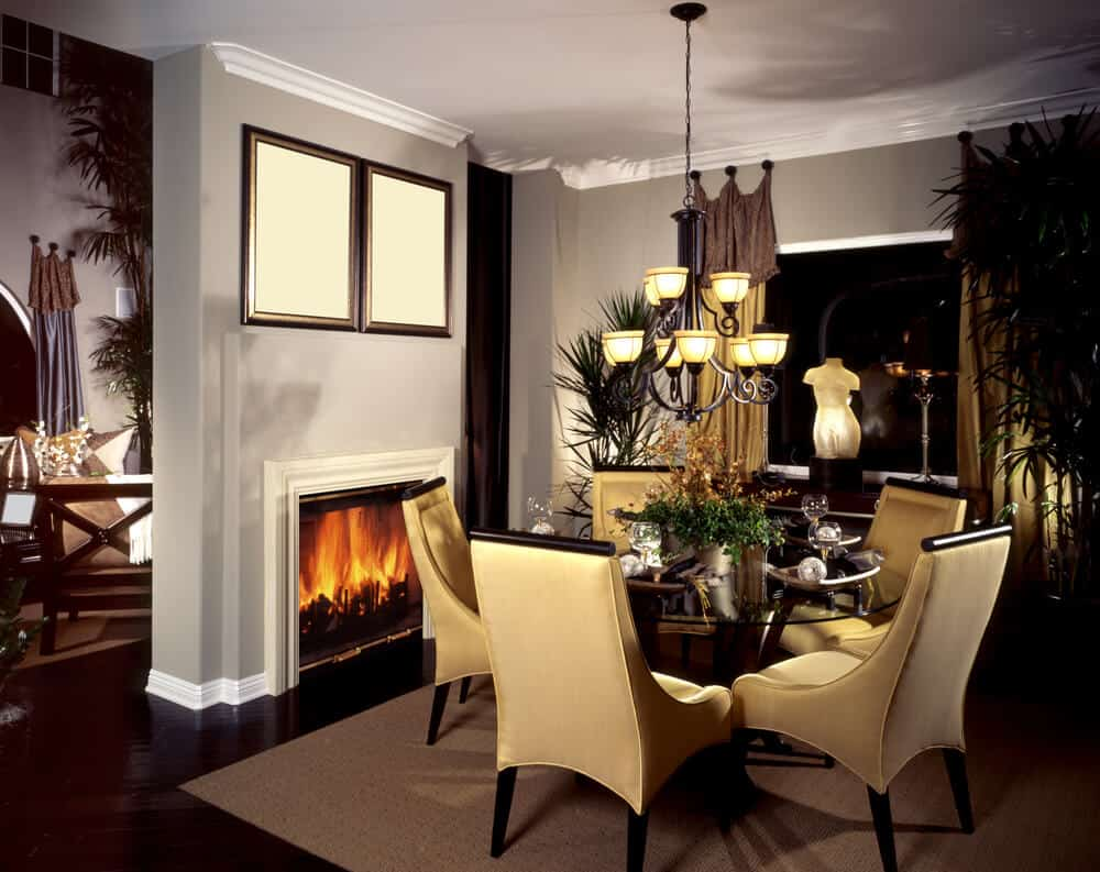 Dining room ideas in private house house interior for Dining room picture ideas