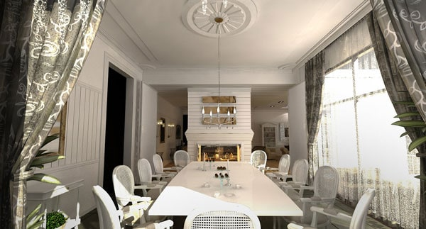 dining-room-ideas-in-private-house-fireplace-in-dining-room-design