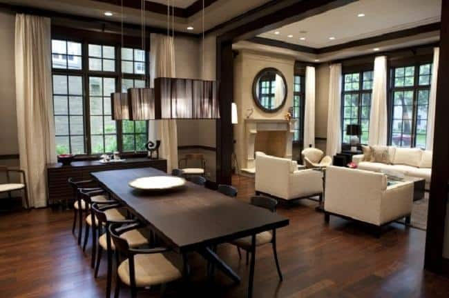 Dining room ideas in private house for Modern home decor photo gallery