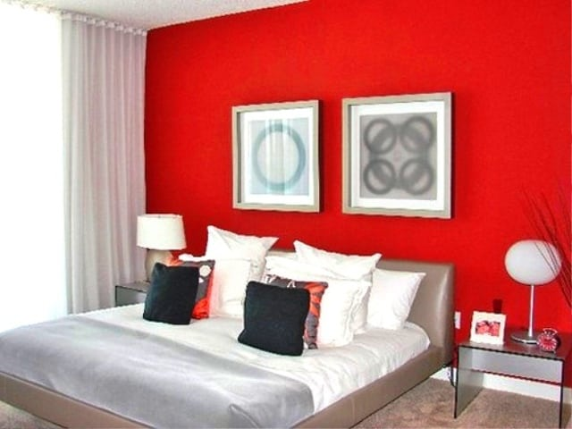 ideas for bedrooms: red bedroom decor