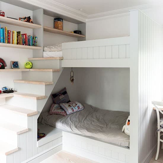Kids room decor small room for kids for Fitted bedroom ideas for small rooms