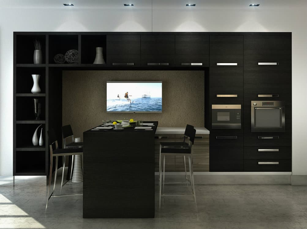 kitchen decorating ideas black kitchen contemporary kitchens kitchen