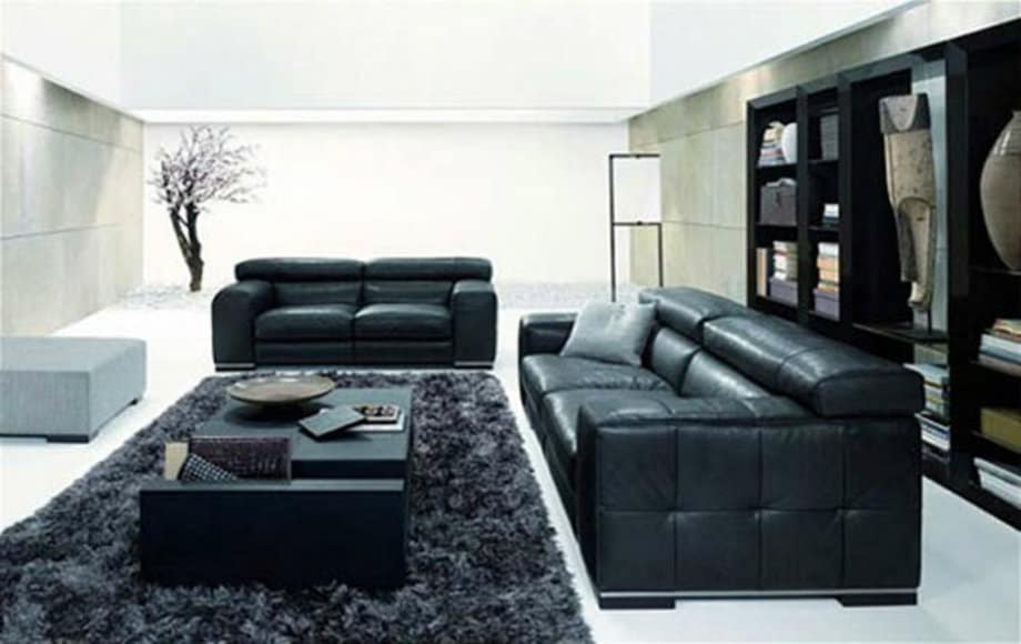 Living Room Decorating Ideas With Black Sofa living room ideas: black living room