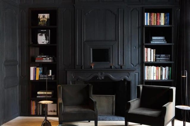 Living room ideas black living room for Black decorated rooms