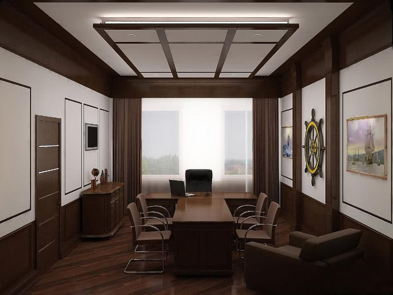 Modern office design house interior for Interior design office layout