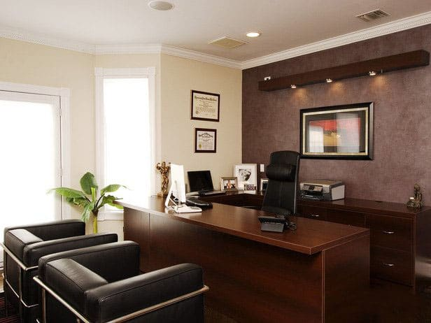 Modern office design house interior for Modern office decor ideas
