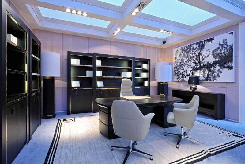Modern office design house interior for Beautiful modern office design