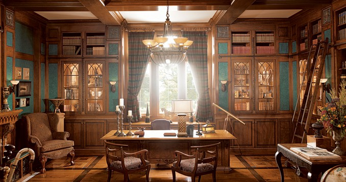 Office decor ideas classic office design house interior Classic home office design ideas