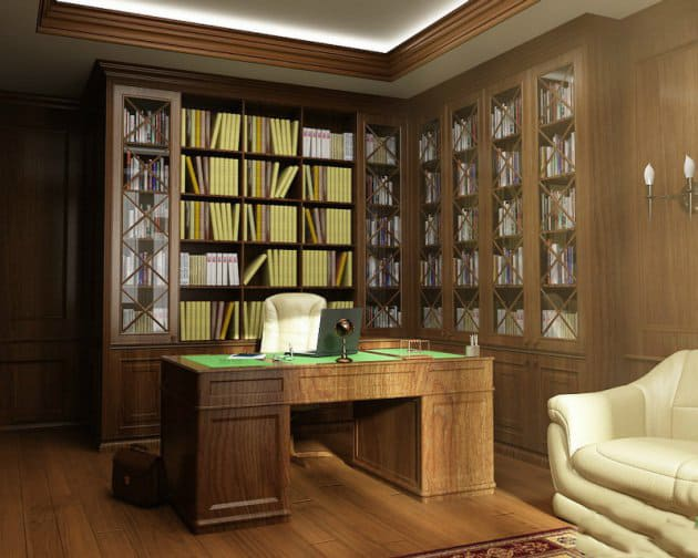 Office decor ideas classic office design house interior for Classic interior home design photos