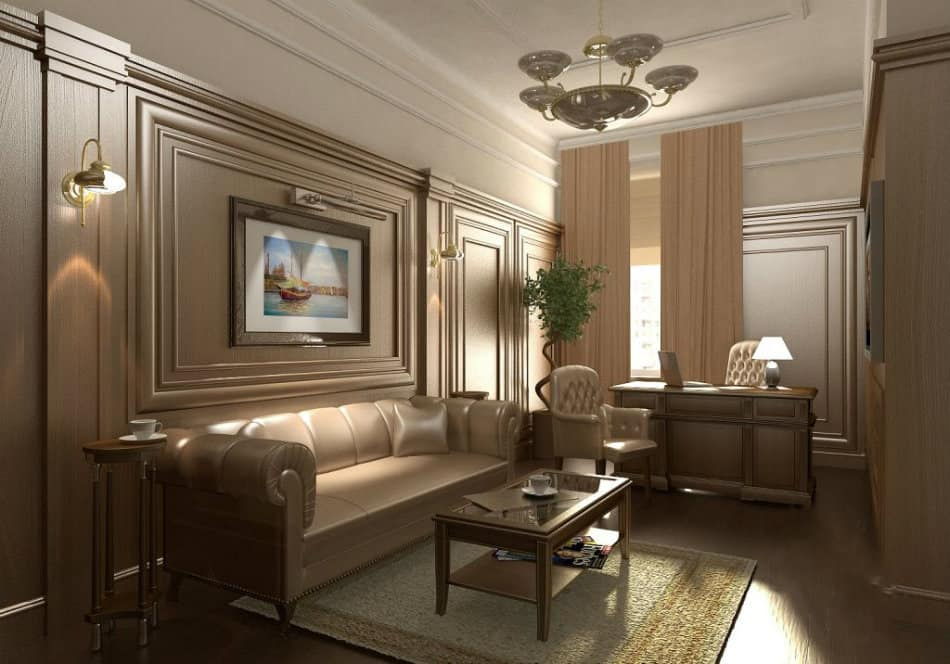 Office decor ideas classic office design house interior for Classic style interior