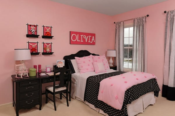Pink bedroom ideas for 5 bedroom house interior design