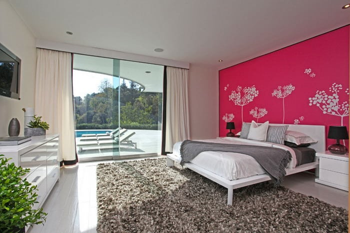 Pink bedroom ideas house interior for House bedroom designs