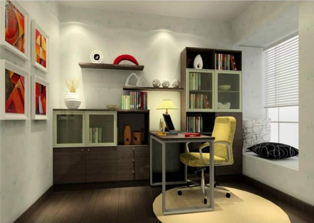 Small home office ideas house interior - Small bedroom space ideas property ...