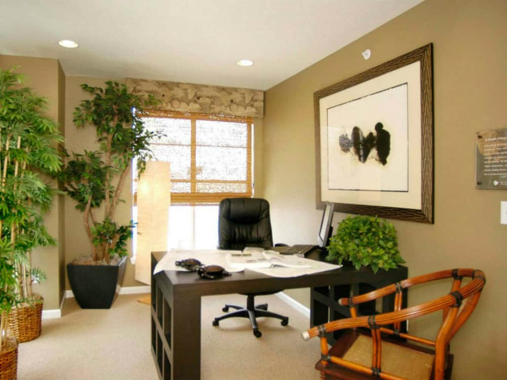 Small home office decorating ideas style Small office makeover ideas