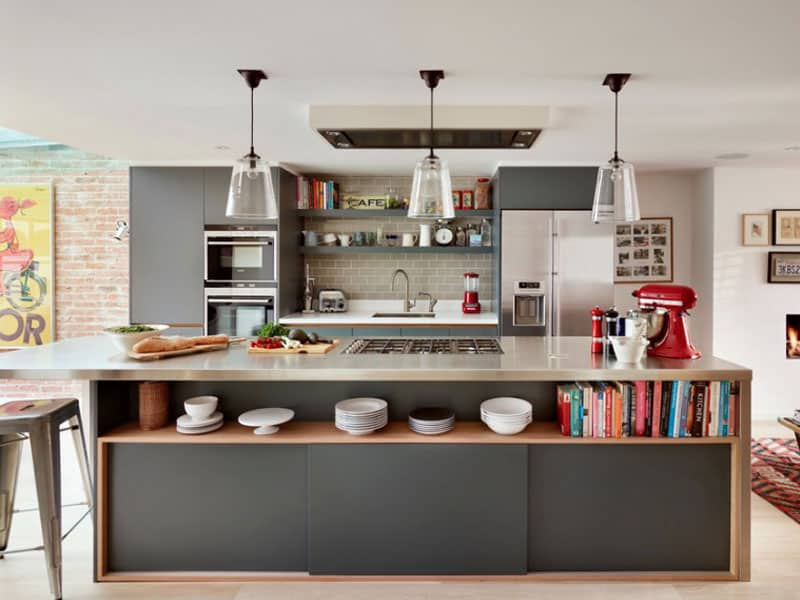 Decorating Ideas For Small Kitchen Space Part - 17: ... Small-kitchen-how-to-visually-enlarge-space-kitchen- ...