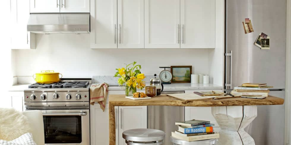 Small kitchen how to visually enlarge space house interior - Cooking in small spaces decoration ...