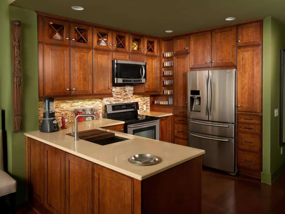 Small kitchen ideas design and technical features house for Kitchen design for small house