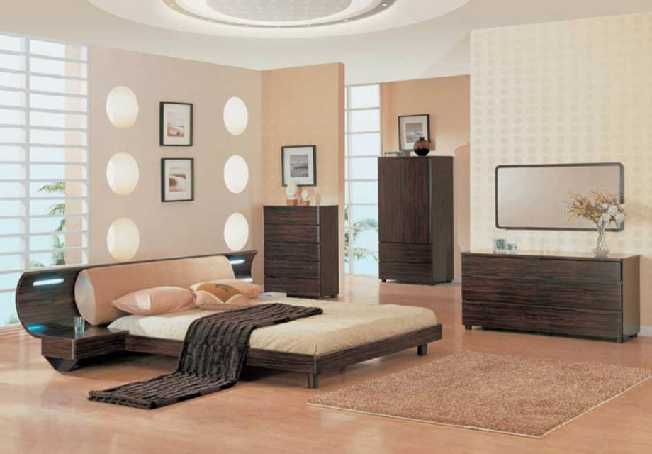 Ideas for bedrooms japanese bedroom house interior for Bed decoration with net