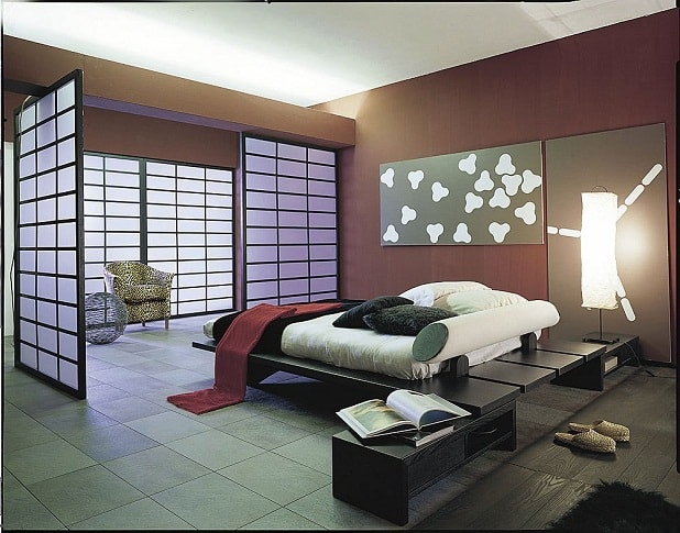Ideas for bedrooms japanese bedroom for Designer inspired bedding