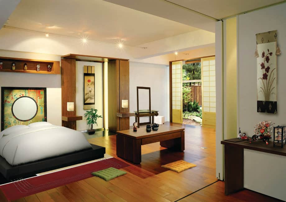 Ideas for bedrooms japanese bedroom house interior for Inside house decorating ideas