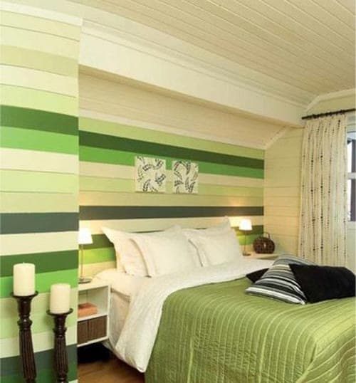 Bedroom interior design green bedroom house interior for Bedroom designs green