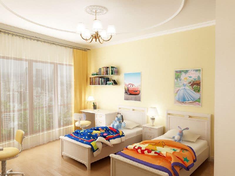 Комната с балконом для двух детей.