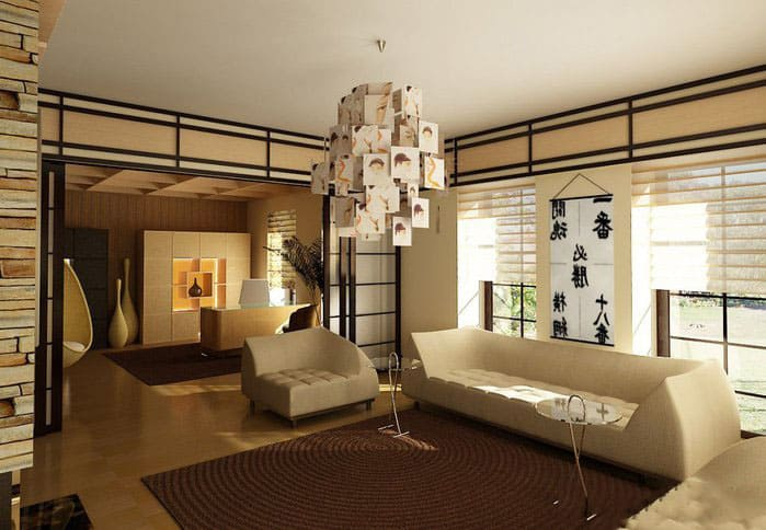Japanese interior design japanese living room for Living room japanese