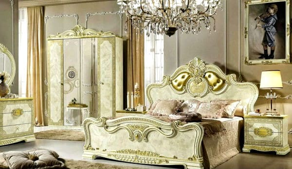 Baroque-bedroom-design-Baroque decor-Bedroom-decorating-ideas-Modern-bedroom