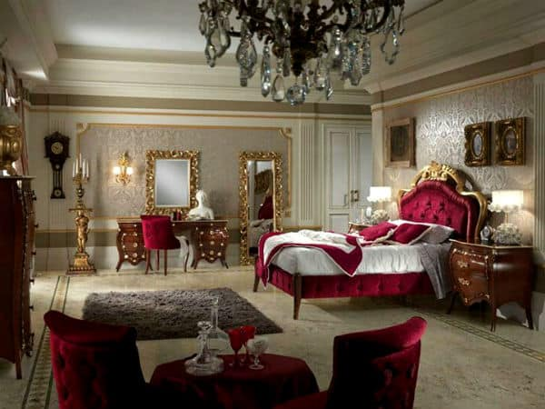 Bedroom decorating ideas baroque bedroom design - Gorgeous bedroom decoration with various sliding bed table ideas ...