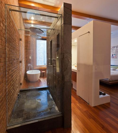 Bathroom decor ideas loft bathroom house interior for Loft bathroom ideas design