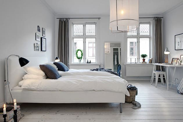 Bedroom decorating ideas scandinavian bedroom house interior for Danish design home accessories