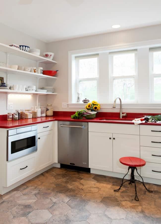 Kitchen design ideas red kitchen house interior for Red kitchen decor