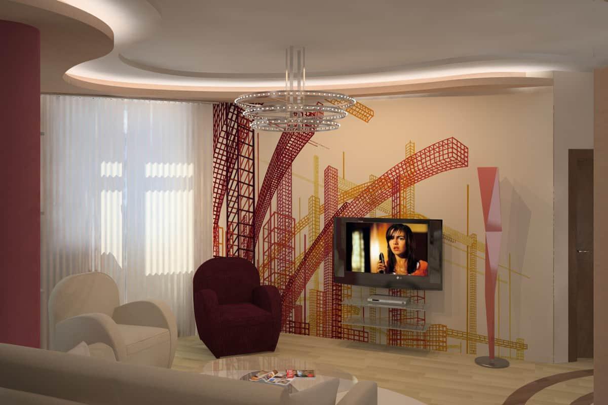 Living room ideas: High-tech living room – HOUSE INTERIOR