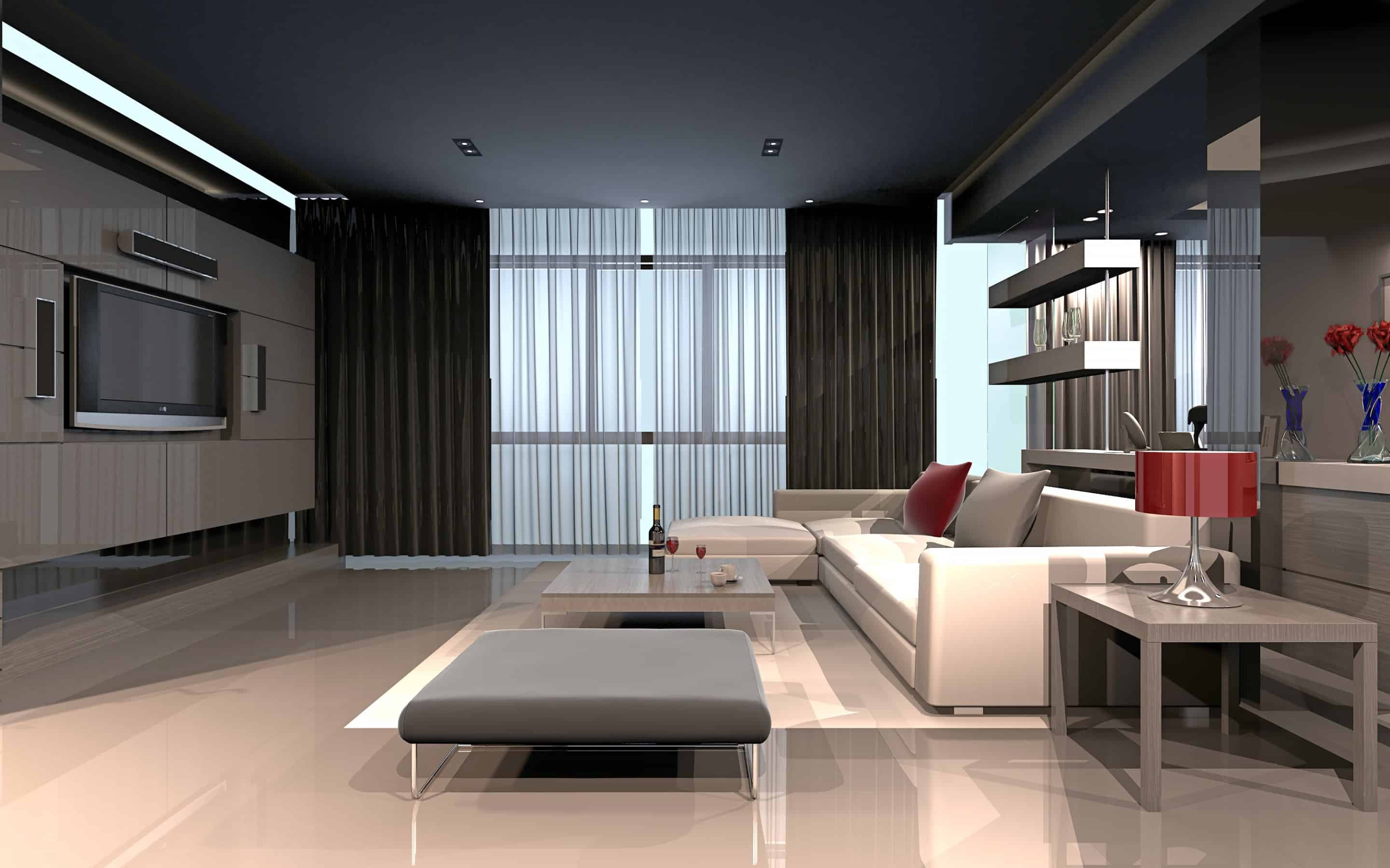 Living room ideas high tech living room for Living room designs apartment