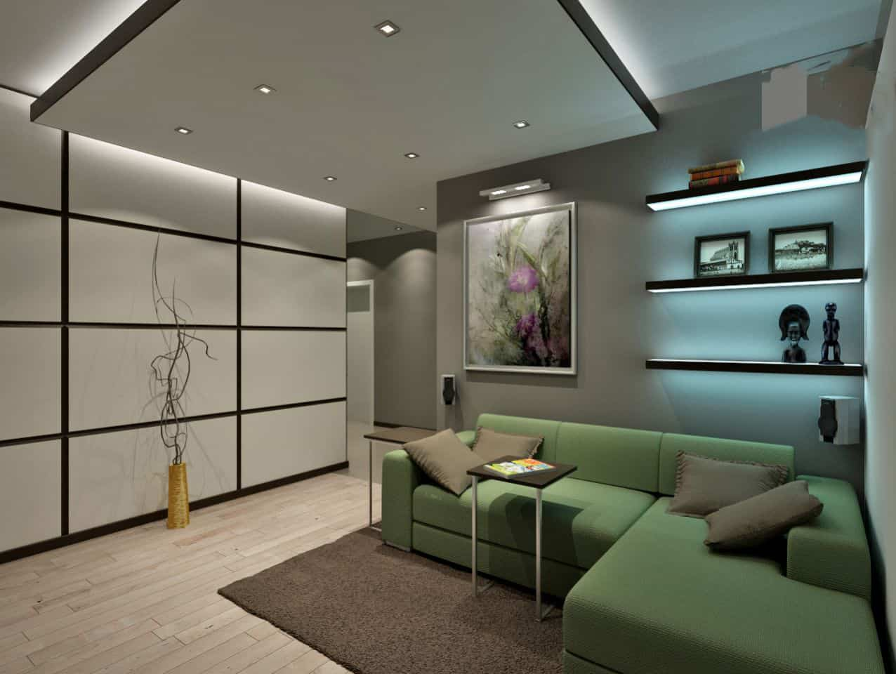 Living room ideas high tech living room house interior for Ceiling designs for living room images